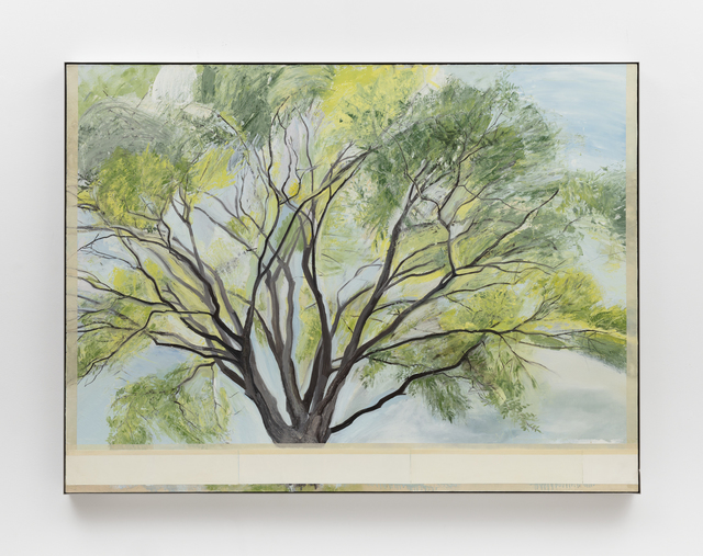 Sylvia Plimack Mangold, 'The Chinese Scholar', 1987-1988, Painting, Oil on linen, Alexander and Bonin