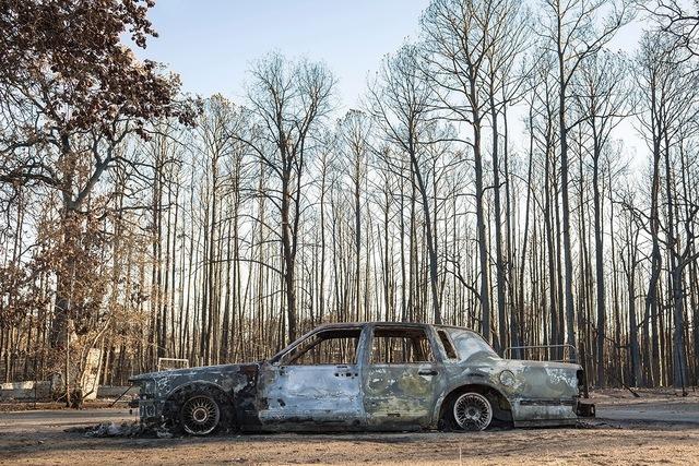 , 'Car Burned by Wildfire,' 2011, Susan Eley Fine Art