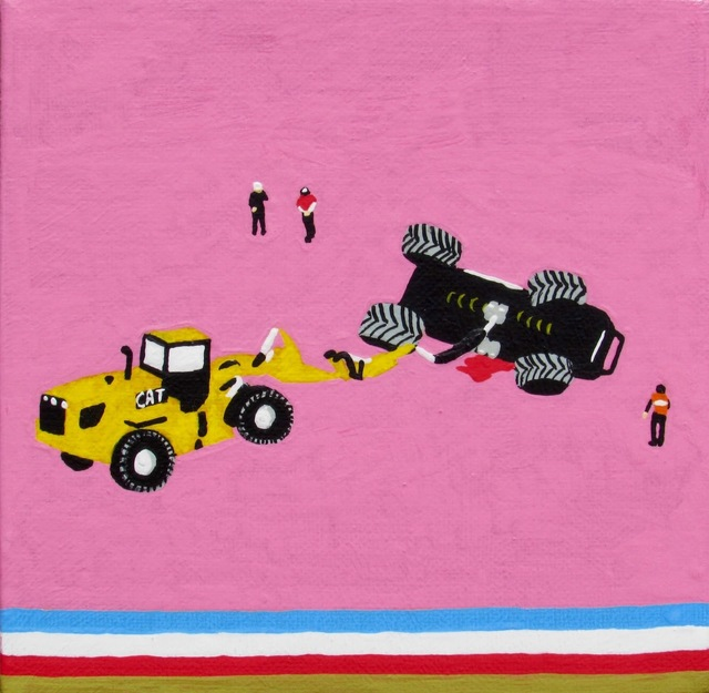 , 'We all secretly hope someone dies at a monster truck rally,' 2016, Ro2 Art