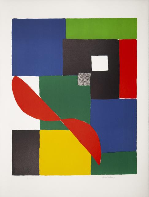 Sonia Delaunay, 'Hèlice rouge', ca. 1970, Print, Lithograph on paper, Glenda Cinquegrana Art Consulting