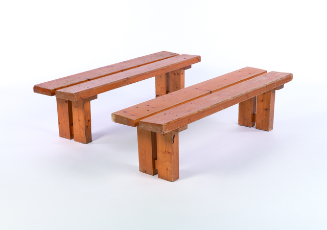 Charlotte Perriand, 'Les Arcs Bench in pine', vers 1970, Leclere