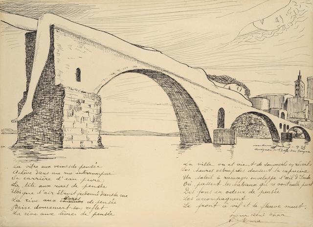 , 'Le Pont brisé (Pont d'Avignon),' 1936, Galerie Natalie Seroussi