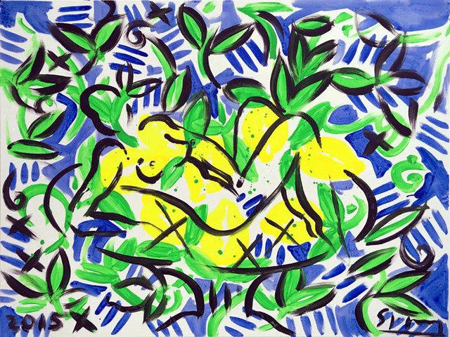 , 'Zitronenakt,' 2015, Galerie Kellermann