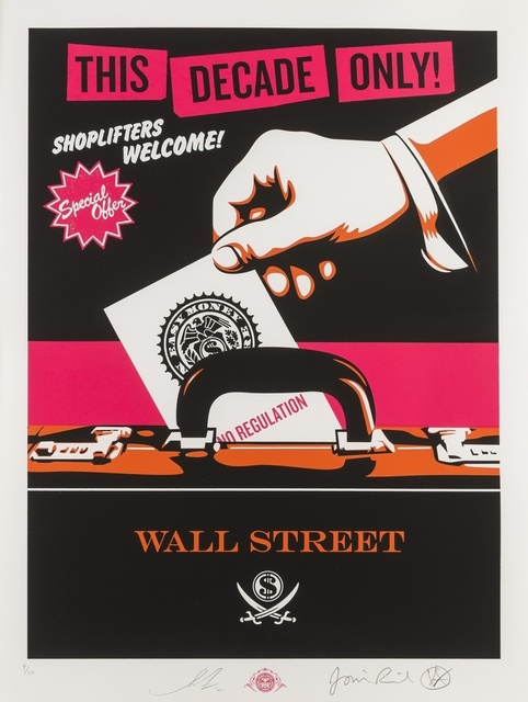 Shepard Fairey (OBEY), 'Shoplifters Welcome', 2012, Forum Auctions