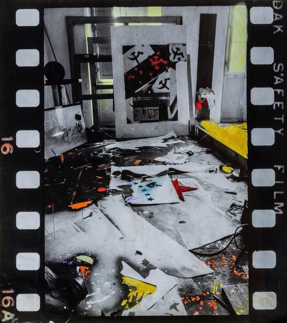 Franco Angeli, 'Atelier in via dè Prefetti', Primi anni '70, Photography, Retouched photograph laid on board, Finarte