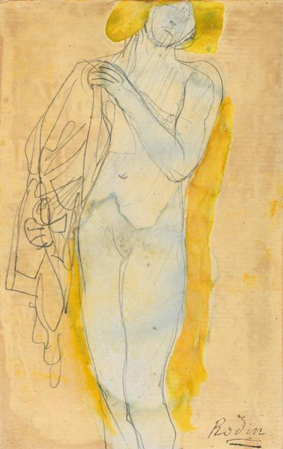 , 'emme nue à la chevelure blonde tenant un costume,' ca. 1890, Galerie Berès