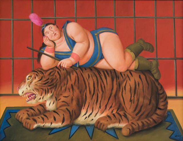 , 'Trainer with Tiger,' 2007, David Benrimon Fine Art