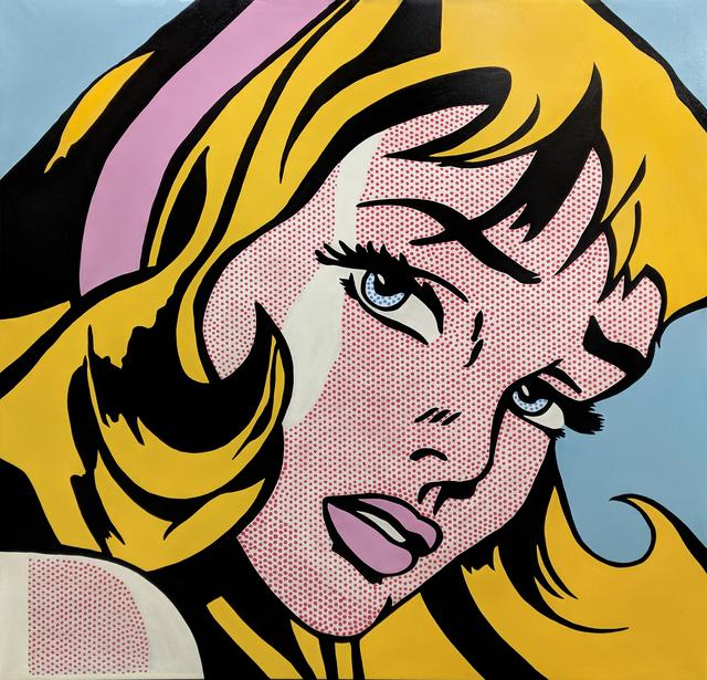 Steve Kaufman, 'LARGE CRYING GIRL HOMAGE TO LICHTENSTEIN', 2001-2007, Gallery Art