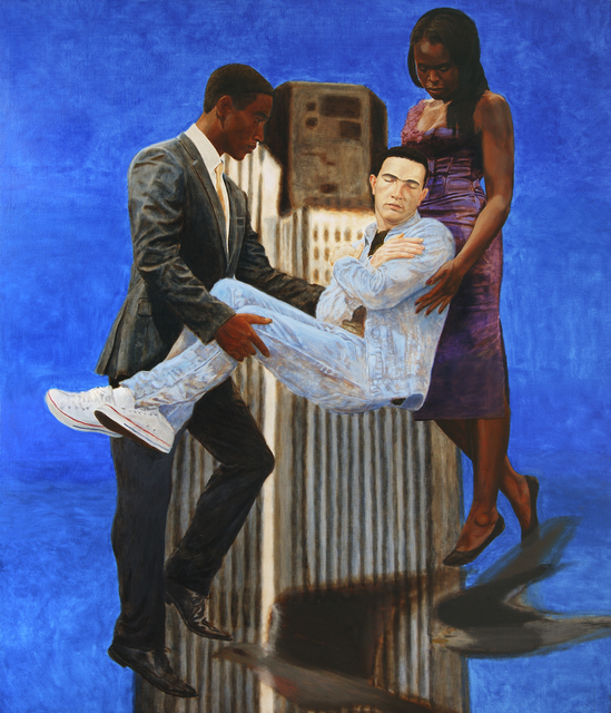 , 'Jean Charles De Menezes borne aloft by Joy Gardner and Stephen Lawrence,' 2010, Ed Cross Fine Art