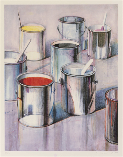 ", '""Paint Cans"",' 1989, Scott White Contemporary Art"