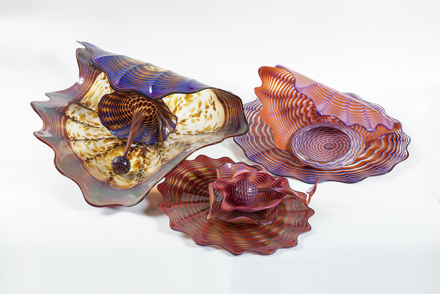 """Dale Chihuly, '9 Piece Pozzuoli Earth Persian Set one of Kind Massive 30"""" Diameter', 1989, Sculpture, Glass, Modern Artifact"""