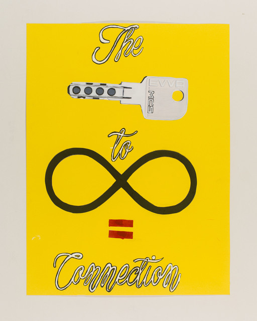 , 'the key to infinity is connection,' 2015, Galerie Clemens Gunzer