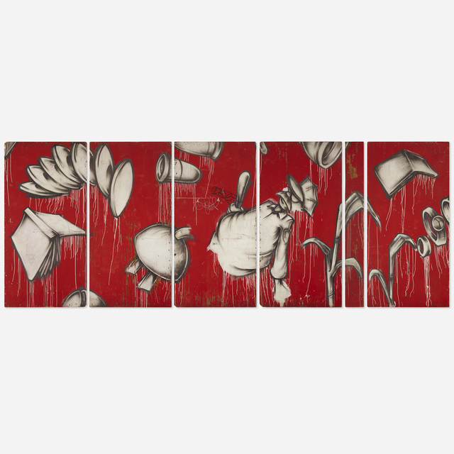 Barry McGee, 'Untitled', 1991, Painting, Spray paint on panel, Rago/Wright