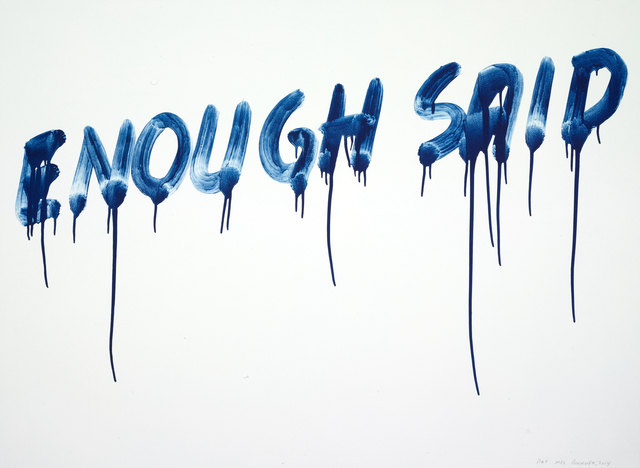 , 'Enough Said,' 2014, Two Palms