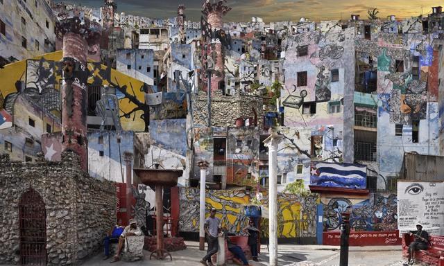 Jean-François Rauzier, 'Cuba, Callejon de Hamel 1', 2017, Waterhouse & Dodd