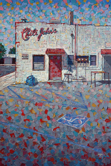 Raymond Logan, 'Chili John's', 2020, Painting, Oil on canvas, George Billis Gallery