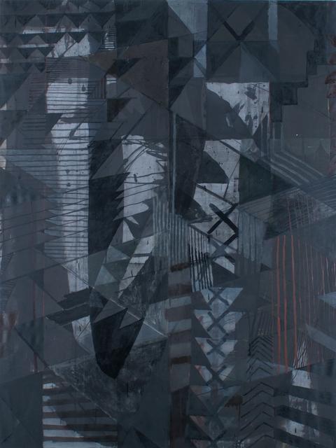 Aschely Cone, 'Black Shield II', 2017, Uprise Art
