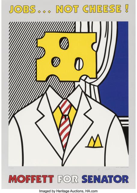 Roy Lichtenstein, 'Jobs Not Cheese', 1982, Heritage Auctions