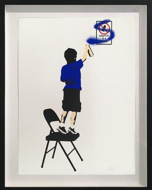 , 'Graffiti is a Crime (Blue),' 2017, Bruce Lurie Gallery