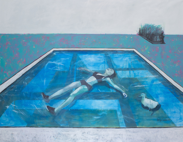 , 'Alyona is swimming in a pool,' 2015, Gridchinhall