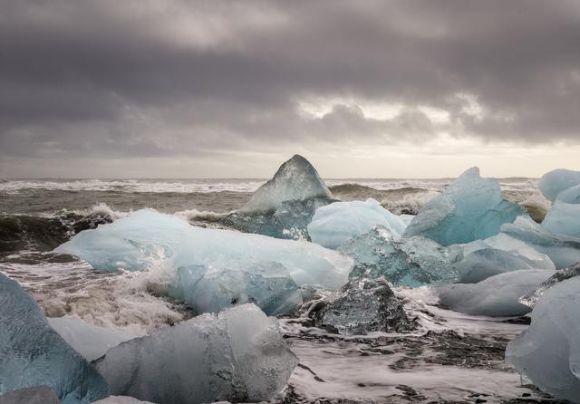 , 'Cubitos de hielo en la playa II,' 2017, Aurora Vigil-Escalera Art Gallery