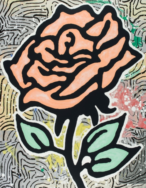 Donald Baechler, 'Peach Rose', 2015, New Gallery of Modern Art