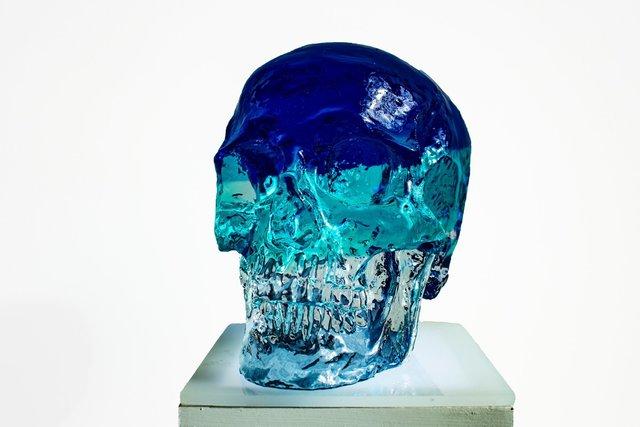 Sam Tufnell, 'Blue Crystal Skull', 2018, Marcel Katz Art