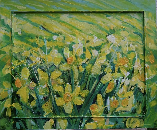 Janet Lance Hughes, 'Field of Daffodils', 2019, Flat Space Art