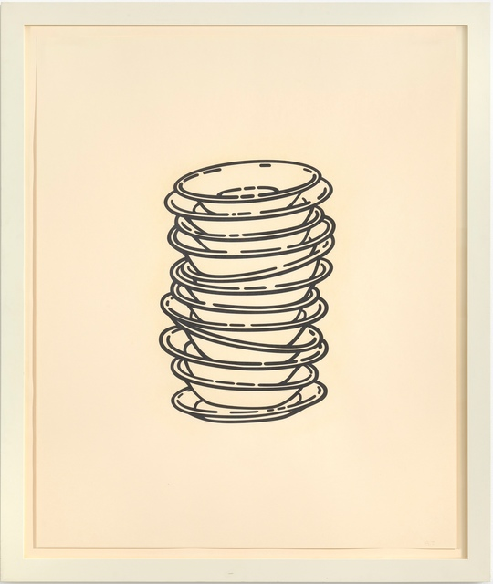 , 'No title (stacked plates),' 2008, Gagosian