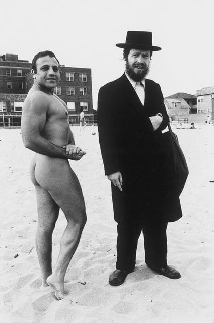 , 'Hassid & Jewish Bodybuilder, Coney Island, NY,' 1980, Hardhitta Gallery