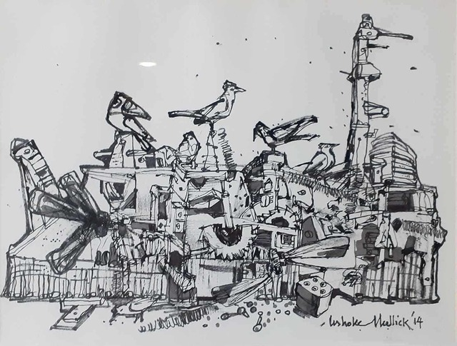 """Ashoke Mullick, 'Untitled, Ink on Paper by Contemporary Artist """"In Stock""""', 2014, Gallery Kolkata"""