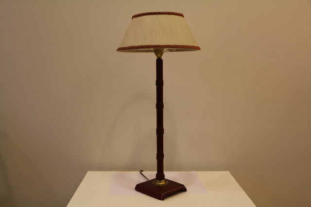 , 'Leather covered table lamp, by Jacques Adnet,' 1950-1959, Avant-Garde Gallery