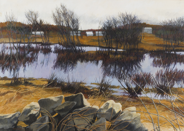 , '[Autumn Stream with Barnes in the Distance],' , Childs Gallery