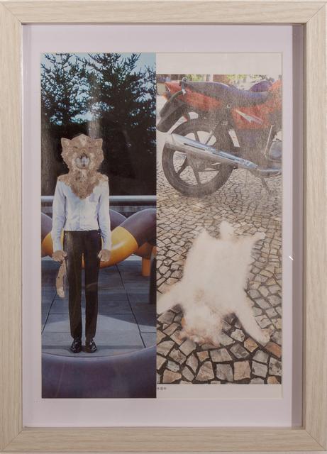 , 'Neko wo kaburu (wearing cat),' 2017, Micheko Galerie