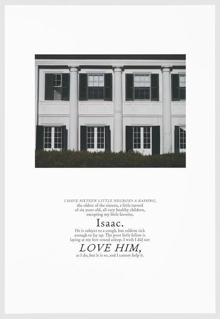 , 'LOVE HIM,' 2016, Arnika Dawkins Gallery