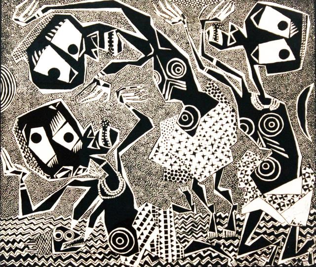 , 'Iwin Series no. 2,' 1960, TAFETA
