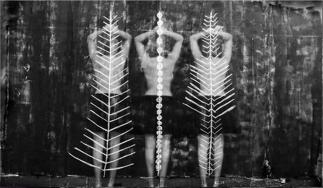 , 'Amazigh, dos serpent, orvet, mille pattes,' 2017, Galerie 127