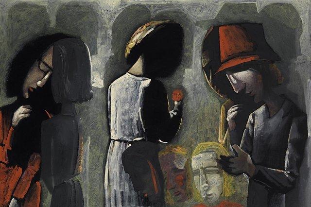 Charles Blackman, 'Dreaming in the Street', 0000, Angela Tandori Fine Art