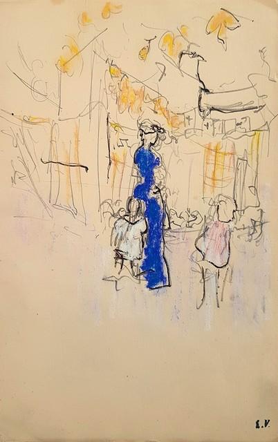 , 'Lucie Hessel à La Montagne avec Annette et Jacques, Verso: Study of a Mirror  ,' 1903, Jill Newhouse Gallery