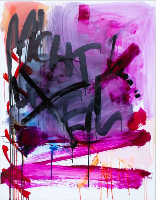 Thierry Furger, 'SCHRIFTENMALER 01', 2020, Painting, Ink and acid on white aluminium, KOLLY GALLERY