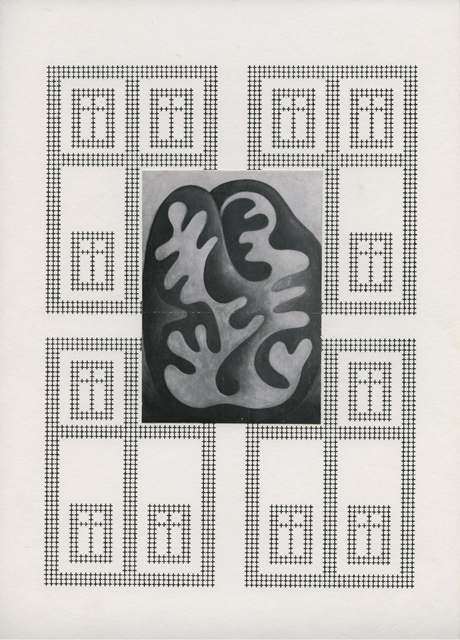 , 'Fensterblick collagiert,' ca. 1980, ChertLüdde