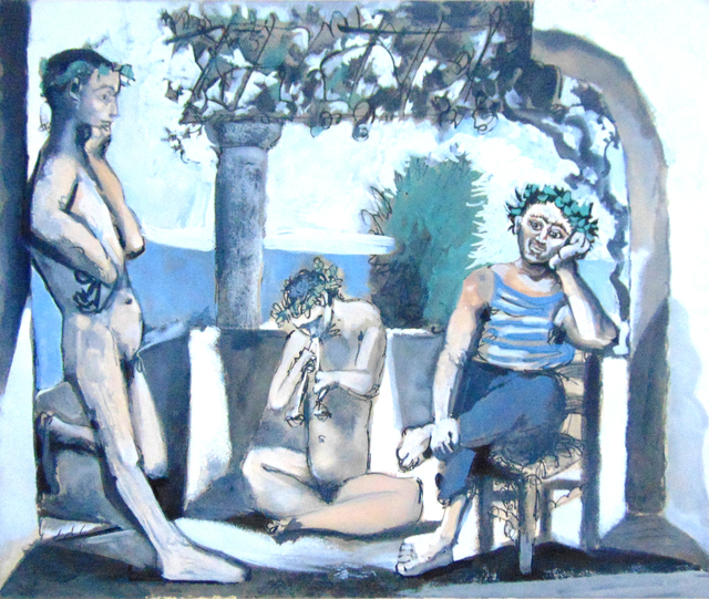 Pablo Picasso, 'Bacchanal | Bacchanale', 1959-1963, Print, Hand Signed and Numbered Aquatint in Colours on BFK Rives Wove Paper, Gilden's Art Gallery