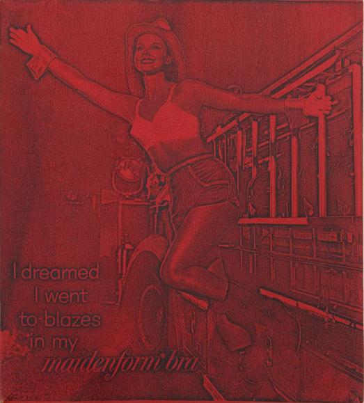 , 'I dreamed I went to blazes in my Maidenform Bra (Red),' 1964, The Mayor Gallery