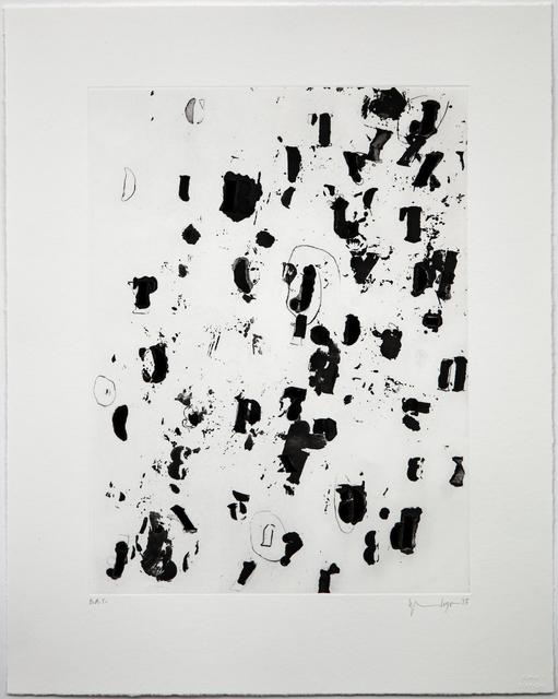 Glenn Ligon, 'Debris Field II', 2015, Print, Aquatint with Sugar-lift, Drypoint, and Scraper, Burnet Editions