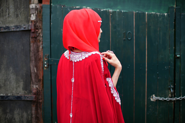 , 'Red Hijab, Red Dress and Bling,' 2013, Beetles + Huxley
