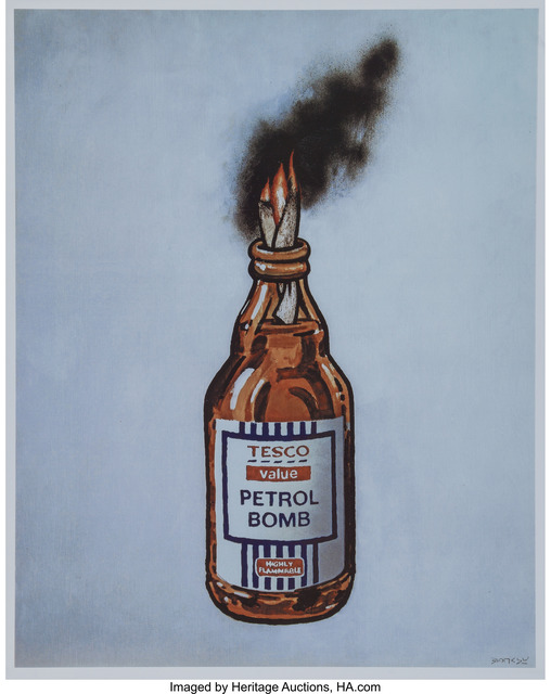 Banksy, 'Tesco Value Petrol Bomb, poster', 2011, Heritage Auctions
