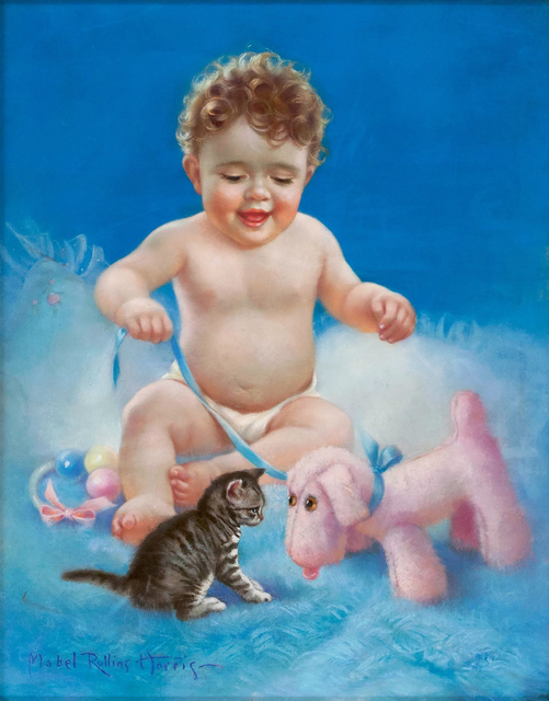Mabel Rollins Harris, 'Baby with Kitten', 20th Century, The Illustrated Gallery