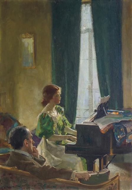 Charles E. Chambers, 'The Piano Lesson', 20th Century, The Illustrated Gallery