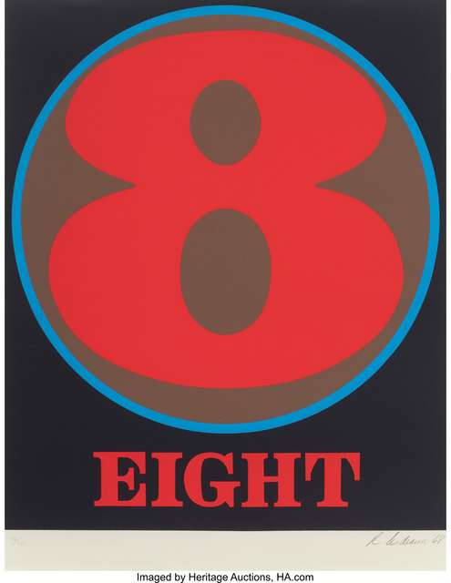 Robert Indiana, 'Eight', 1968, Print, Serigraph in colors, Heritage Auctions