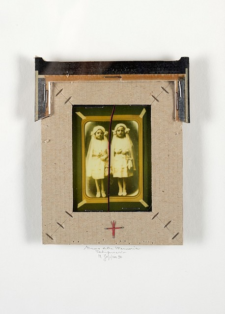 Natale Zoppis, 'Museo della Memoria, Reliquiario', 1994, Photography, Mixed techniques (Polaroid and cardboard bounded with staples, interventions in red tempera) applied on original cardboard, Finarte